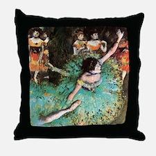Edgar Degas The Green Dancer Throw Pillow