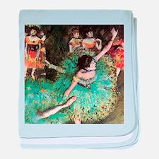 Edgar Degas The Green Dancer baby blanket