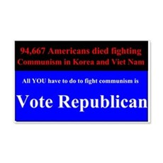 Fight Communism - Vote Republican Wall Sticker
