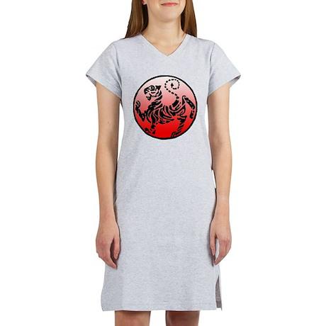 shotokan - black tiger on red and white Women's Ni