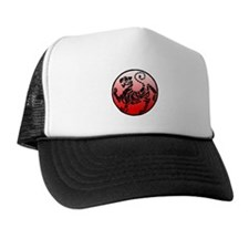 shotokan - black tiger on red and white Trucker Hat