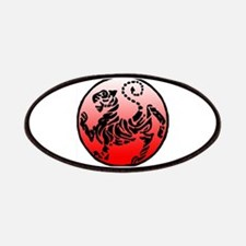 shotokan - black tiger on red and white Patches