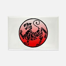 shotokan - black tiger on red and white Rectangle