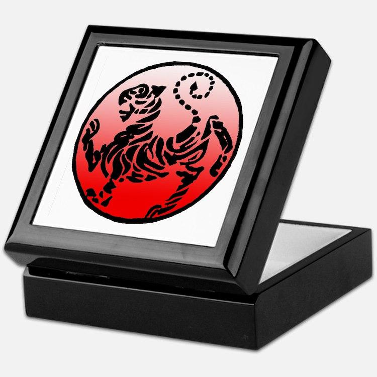 shotokan - black tiger on red and white Keepsake B