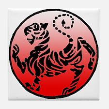 shotokan - black tiger on red and white Tile Coast