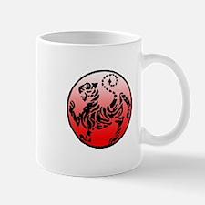 shotokan - black tiger on red and white Mug