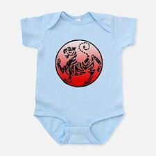 shotokan - black tiger on red and white Infant Bod