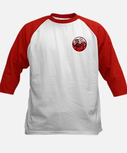 shotokan - black tiger on red and white Tee