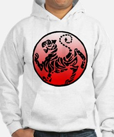 shotokan - black tiger on red and white Hoodie