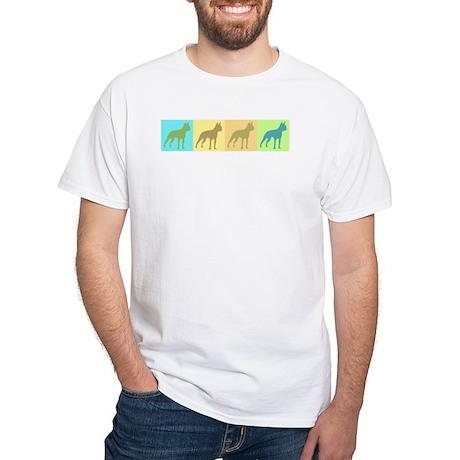 Boston Terrier Mod Art White T-Shirt