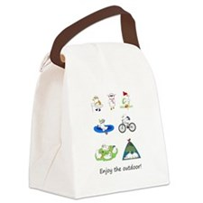 Enjoy the Outdoor Canvas Lunch Bag