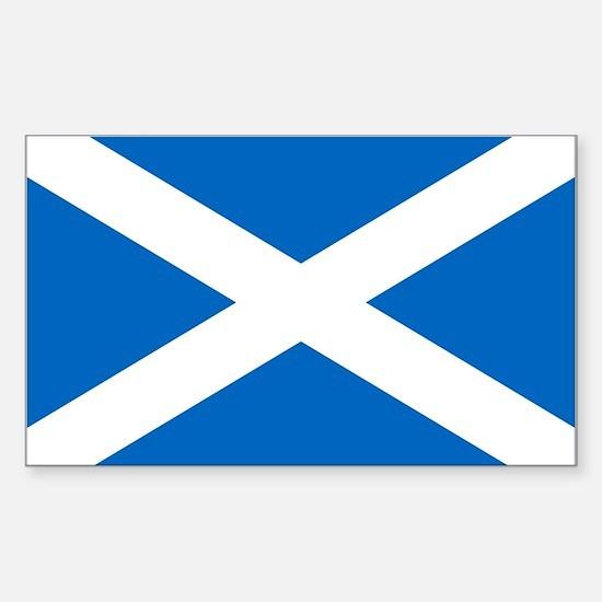 Scottish Flag Sticker (Rectangle)