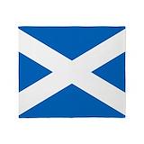 Scottish flag Fleece Blankets