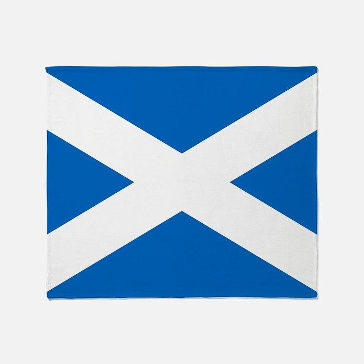 Scottish Flag Throw Blanket
