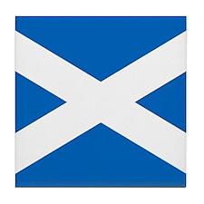 Scottish Flag Tile Coaster