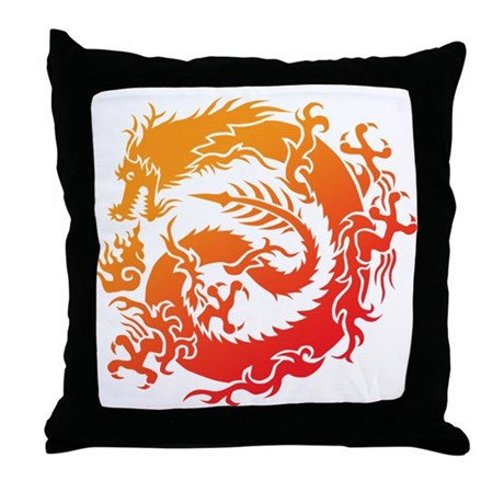 Tr-dragon Throw Pillow