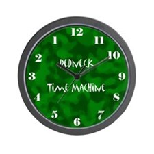 Redneck Time Machine Clock Wall Clock