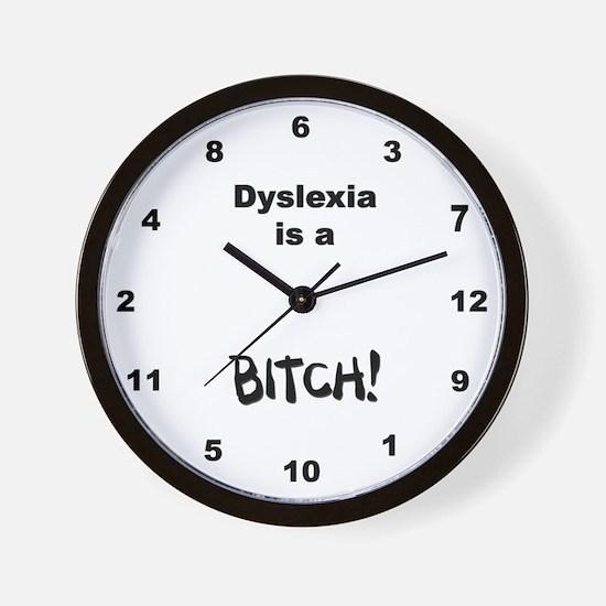Dyslexic Clock Wall Clock