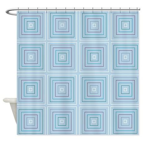 Square Tiles Shower Curtain