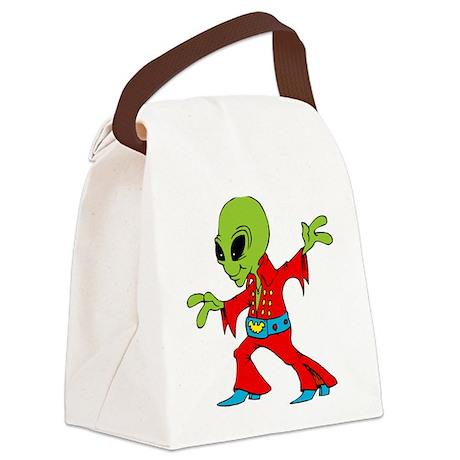 Elvis Alien Canvas Lunch Bag