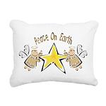 Angel Peace On earth Rectangular Canvas Pillow