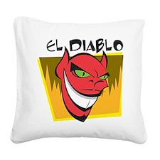 El Diablo Square Canvas Pillow