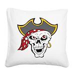 Pirate Skull Square Canvas Pillow