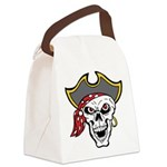 Pirate Skull Canvas Lunch Bag