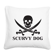 Scurvy Dog Square Canvas Pillow