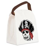 Skeleton Pirate Canvas Lunch Bag