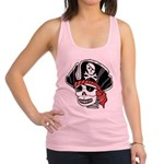 Skeleton Pirate Racerback Tank Top
