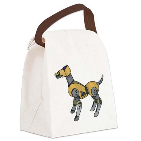 Robotic Dog Canvas Lunch Bag