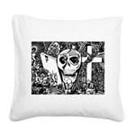 Gothic Skull Art Square Canvas Pillow