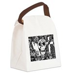 Gothic Skull Art Canvas Lunch Bag