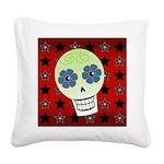 Skull Square Canvas Pillow