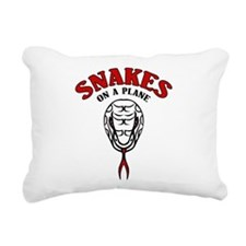 Snakes On A Plane Rectangular Canvas Pillow