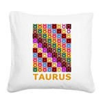 Pop Art Taurus Square Canvas Pillow