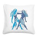 Gemini Square Canvas Pillow