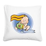 Cute Aquarius Square Canvas Pillow