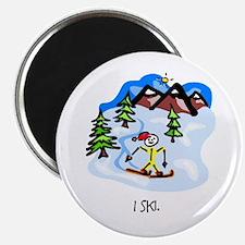 I ski. Magnet