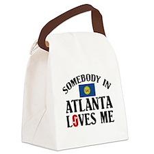 Somebody In Atlanta Canvas Lunch Bag