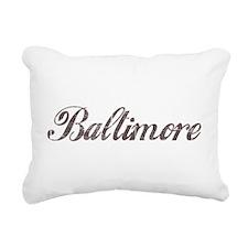 Vintage Baltimore Rectangular Canvas Pillow
