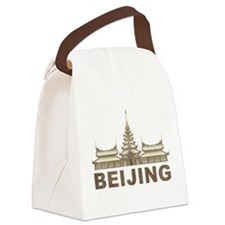 Vintage Beijing Temple Canvas Lunch Bag