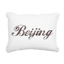 Vintage Beijing Rectangular Canvas Pillow