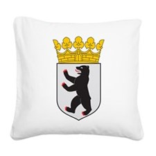 Berlin Coat Of Arms Square Canvas Pillow