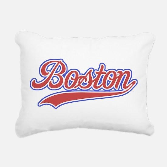 Retro Boston Rectangular Canvas Pillow