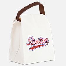 Retro Boston Canvas Lunch Bag