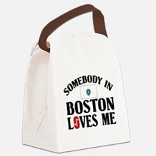 Somebody In Boston Canvas Lunch Bag