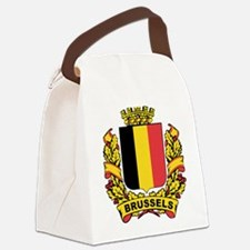 Stylized Brussels Crest Canvas Lunch Bag