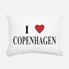I Love Copenhagen Rectangular Canvas Pillow